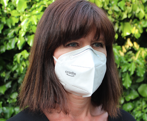 Cradle KN95 protective anti-virus respirator mask supporting the NHS