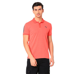 CONTRAST HEATHER POLO
