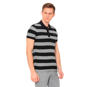 ESS Striped Pique Polo cotton black-medi