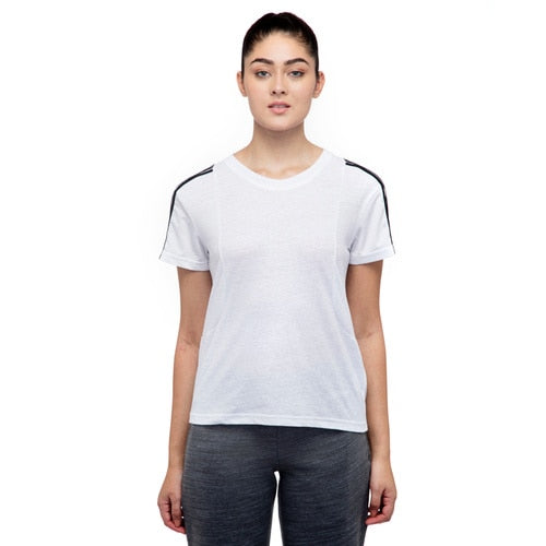 Women's adidas Training 3-Stripes Mesh Sleeve Tee