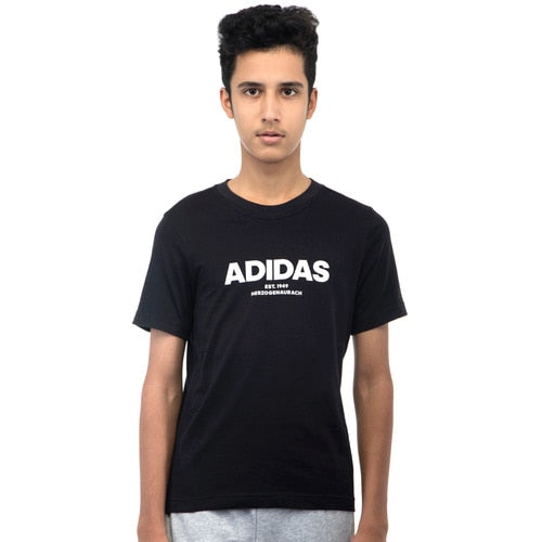 YOUNG BOYS' ADIDAS ALL CAPS TEE