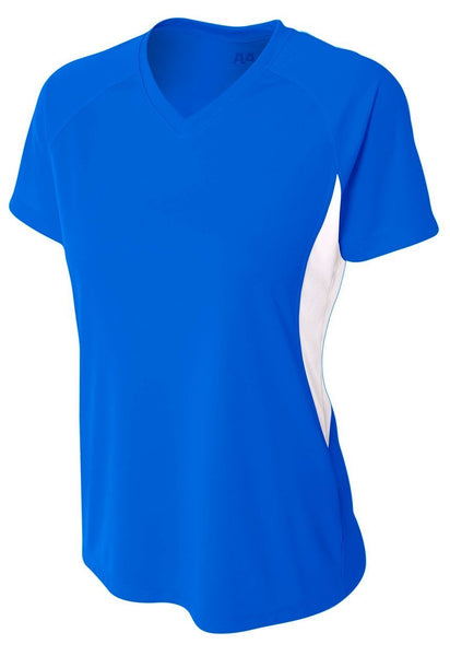 5050 Women's Color Block Performance V-Neck