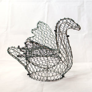 Swan Frame /  : Medium : 23cm High (exc pot)