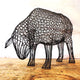 Metal Ewe Sculpture (Head Down) by Luigi Frosini