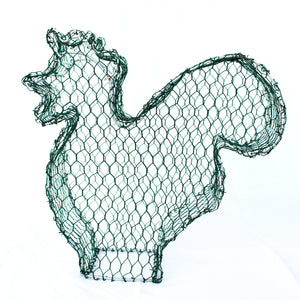 Cockerel/Rooster 2D Frame /  : Medium : 27cm High (exc pot)