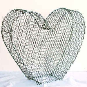 Heart 2D Frame /  : Large : 43cm High (exc pot)
