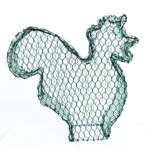 Cockerel/Rooster Frame 2D Large /  : Large : 40cm High (exc pot)