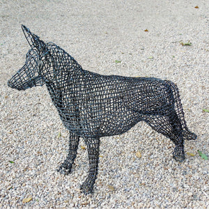 Metal German Shepherd Dog Sculpture by Luigi Frosini