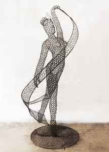 Metal Ballet Dancer Sculpture by Luigi Frosini