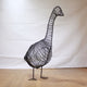 Metal Goose Sculpture by Luigi Frosini