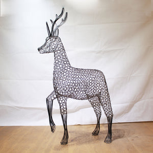 Metal Roe Deer Sculpture by Luigi Frosini
