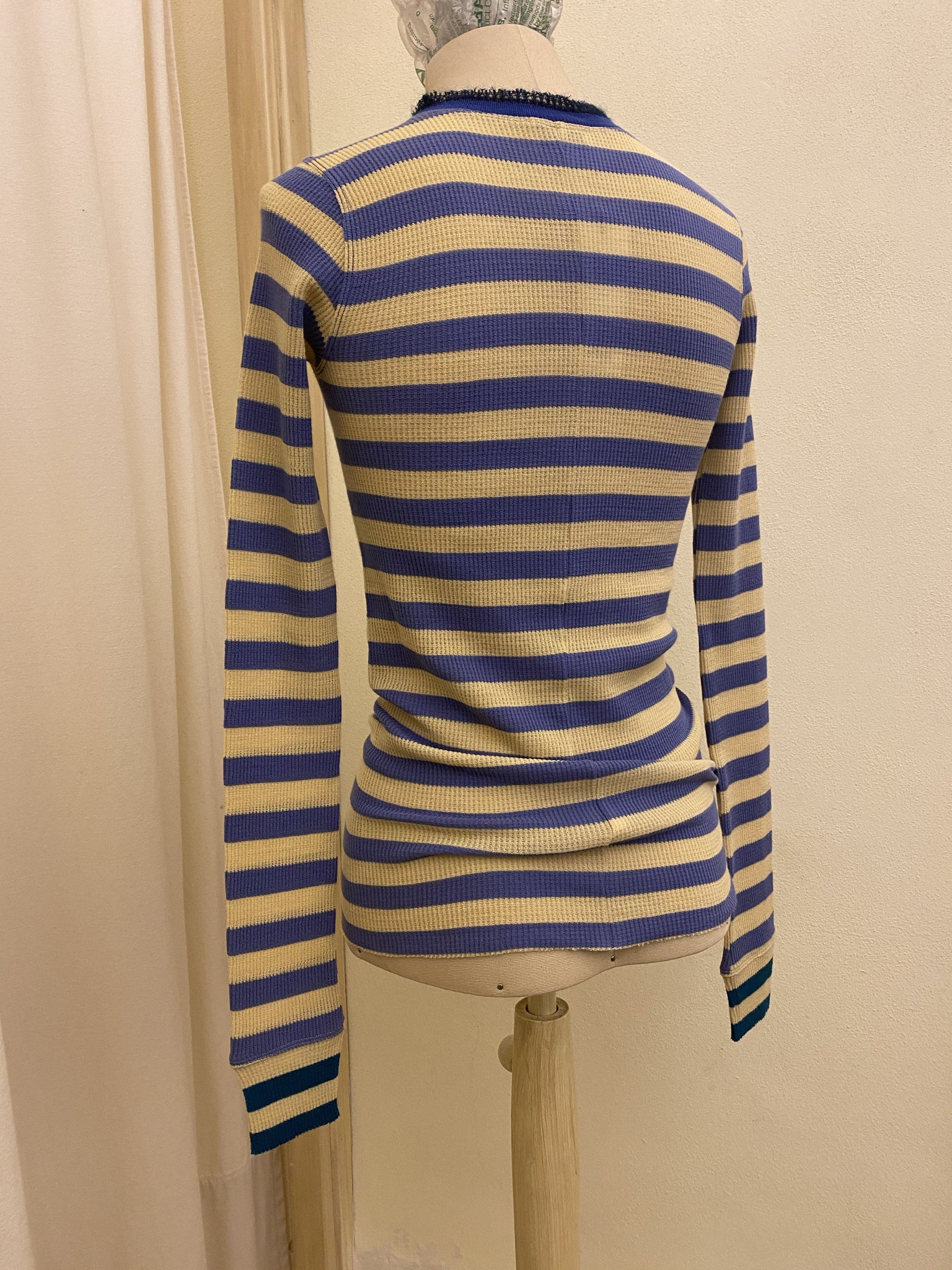 T-shirt Lana / Wool FORTE FORTE _ Stripes Blue