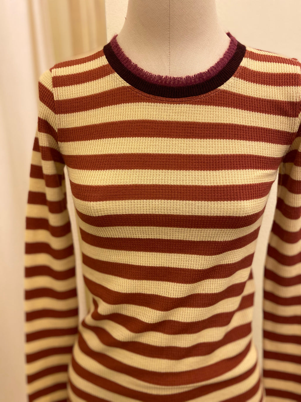 T-shirt Lana / Wool FORTE FORTE _ Stripes Red