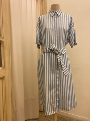 Dress midi PAUL SMITH SS20 righe manica corta