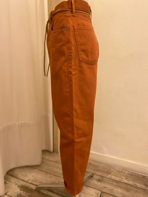 Denim Colorato Barrel Crop Levi's Made & Crafted - RUST