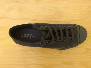 Studio Nicholson Vulcanised Sole Canvas Sneakers - NAVY