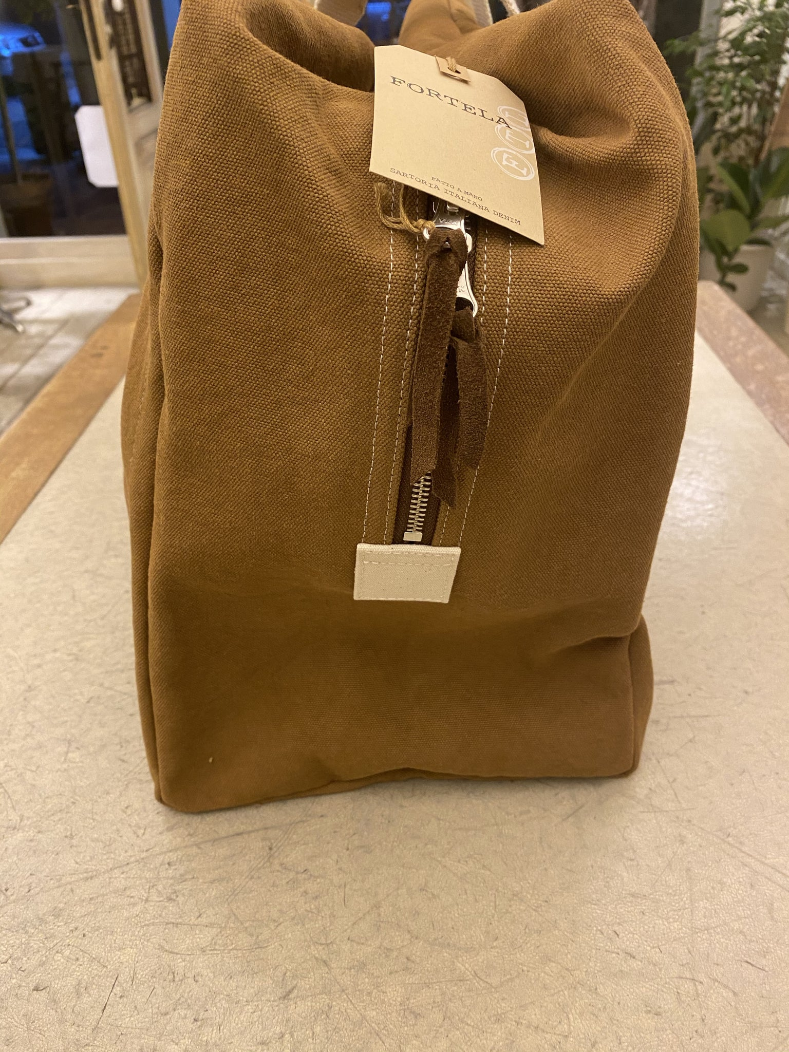 CANVAS BAG - FORTELA _ CAMMEL