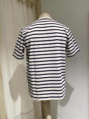 M HOLGER SS COMPACT - TSHIRT NORSE PROJECTS - STRIPES (ecru, dark navy)