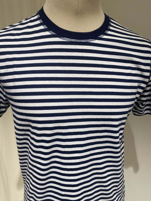 M NIELS CLASSIC STRIPE SS - NORSE PROJECTS - White/Blue
