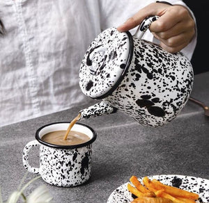 TEA POT - BORNN - white/black