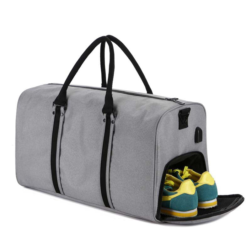 Custom Gym Bag With Charge Port & Footwear Storage