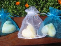Small Heart Soap in Organza Bag