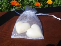 Small Heart Soaps (2) in Organza Bag