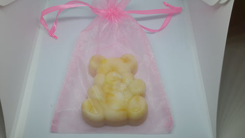 Teddy Bear Soap in Organza Bag (Pink)