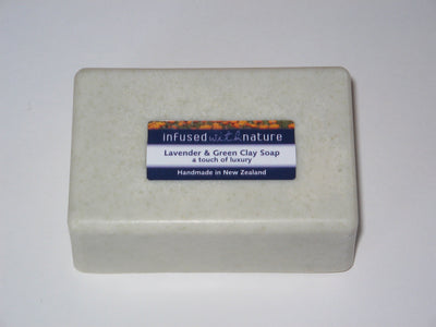 lavender & green clay soap