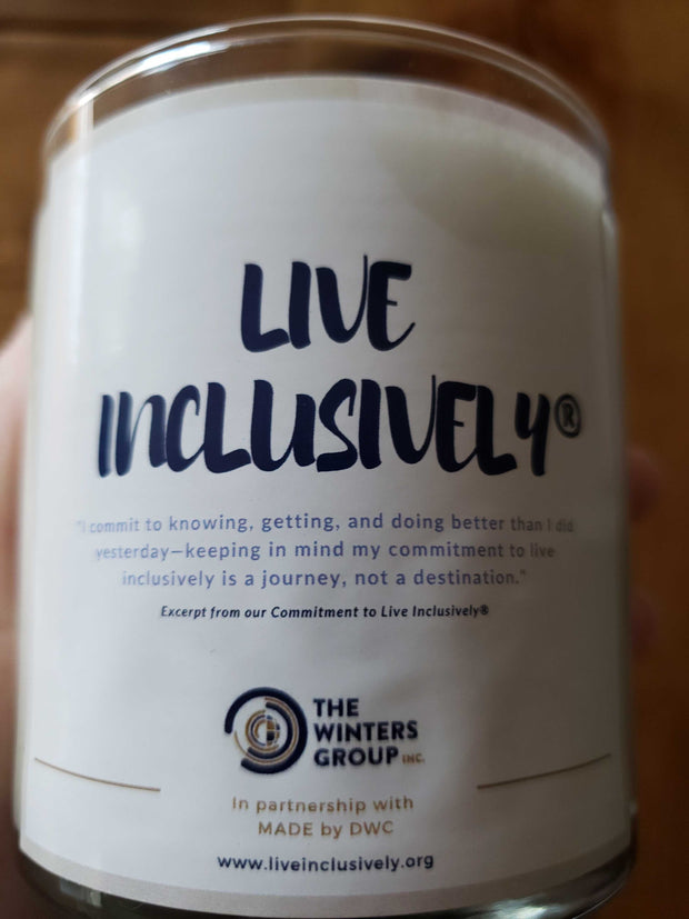 Live Inclusively® Candle (Ginger Scented)