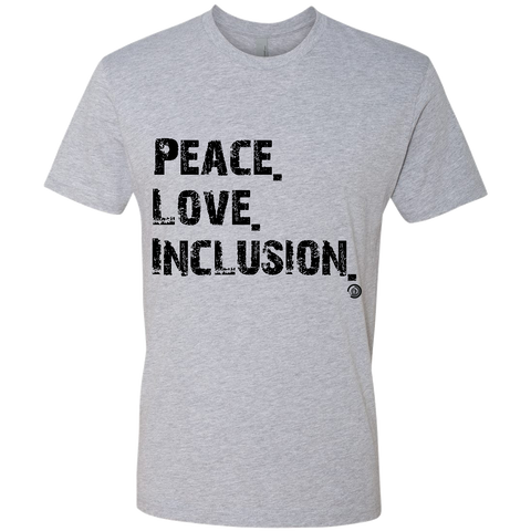 Peace Love Inclusion T-Shirt (Grey/Black)