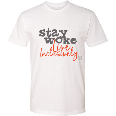 Stay Woke Live Inclusively T-Shirt (Grey/Orange)
