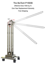 UVC Sanitizing Trolley Commercial Grade Stainless Steel 150-watt - BioTech-P1500B - Free Shipping