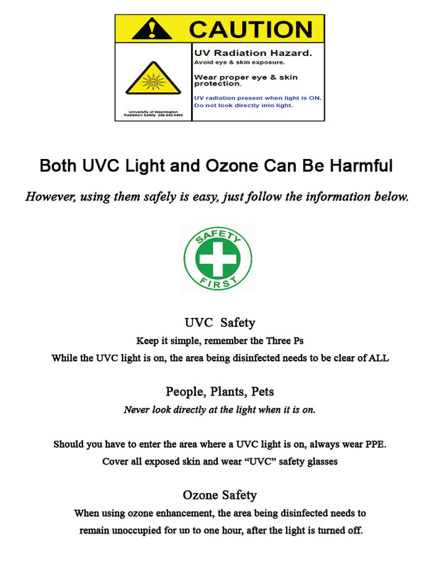 Commercial Stainless-Steel UVC Light - BioTech-P850B - Free Shipping