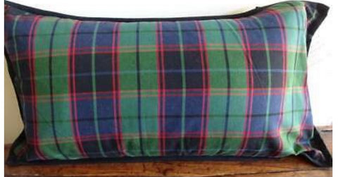 RALPH LAUREN Green Red Blue TARTAN PLAID Feather Lumbar Throw PILLOW 14x26