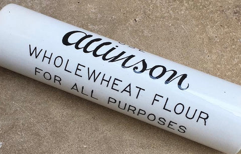Antique Allinson Ceramic Ironstone Rolling Pin English Advertising