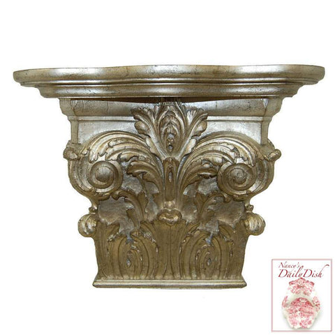 "XL 16"" Corinthian Column Wall Corbel Bracket Ornamental Shelf"
