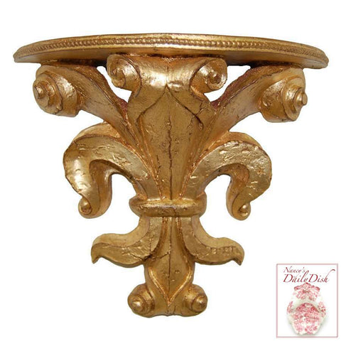 Provence Wall Corbel Bracket Ornamental Shelf in Antique Finish