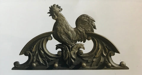 Country French Rooster Coat Rack Hand Finished