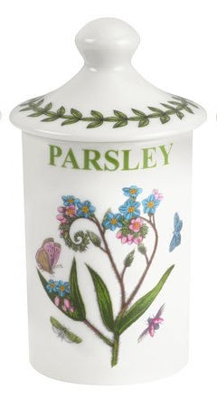 New Portmeiron Botanical Spice Jar Parsley Green Leaves Butterfly