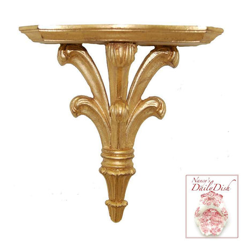 Architectural Prince William Wall Corbel Bracket Ornamental Shelf Over-door Gold Finish