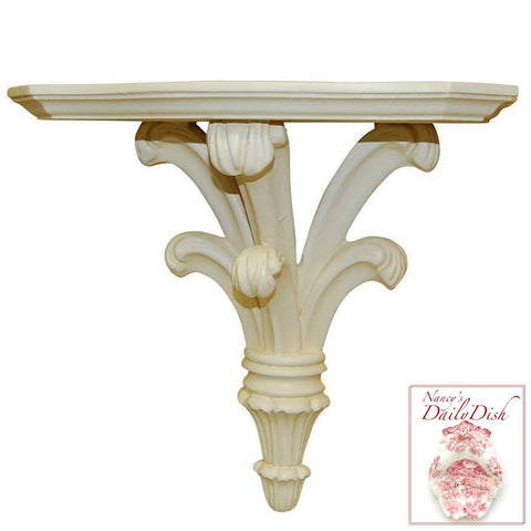 Architectural Prince William Wall Corbel Bracket Ornamental Shelf Over-door White Finish