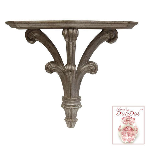 Architectural Prince William Wall Corbel Bracket Ornamental Shelf Over-door - Shimmer Finish