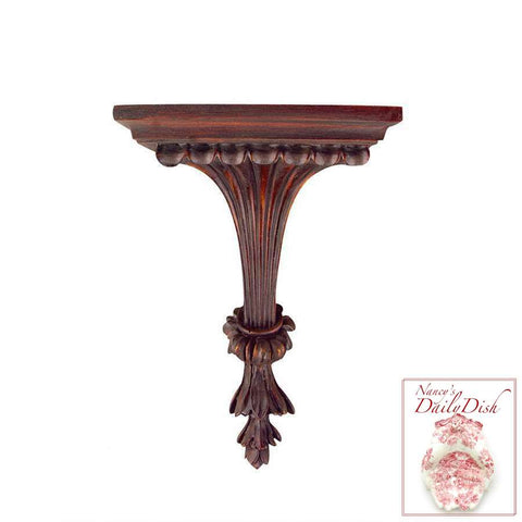 Bordeaux Hand Finished Fluted French Wall Bracket Ornamental Shelf