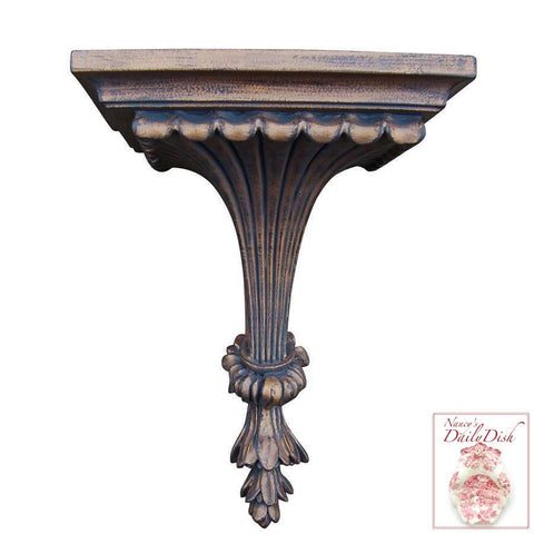 Architectural Fluted Leaf Wall Corbel Bracket Ornamental Shelf