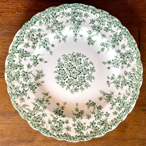 English Ivy Green Transferware Salad Plate Crown Ducal Circa 1930s