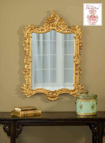 Baroque Rococo Ornate Detailed Entry Wall Mirror Gold