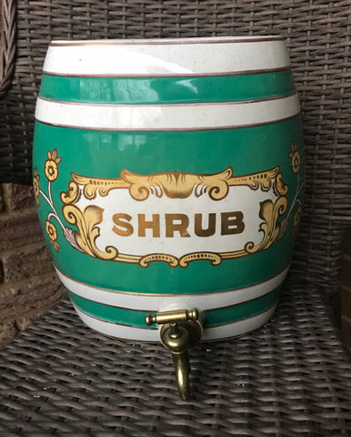 "14"" 19C Antique English Victorian SHRUB Spirits Barrel  Keg for LAMP / DECOR / BAR"