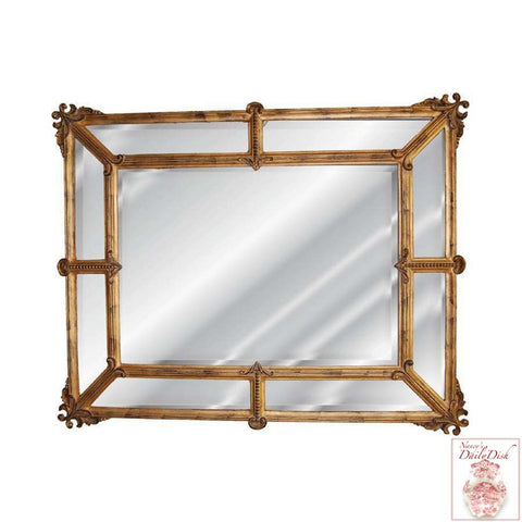 Exquisite Pieced Beveled French Rectangular Entry Wall Hall Mirror