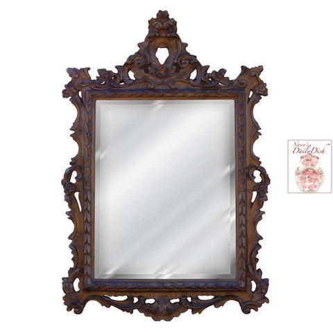 English Regency Hand Finished Entryway or Wall Mirror with Venetian Finish